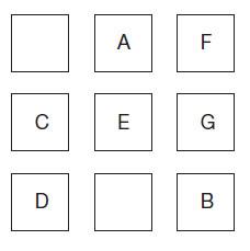Test logic<br /> In care din cele doua patrate ramase ai plasa literele H si I?<br />