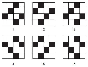 Test logic<br /> Care este patratul care nu se potriveste?